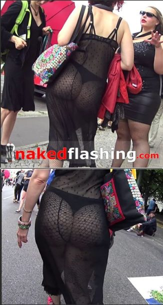 see through dress flashing